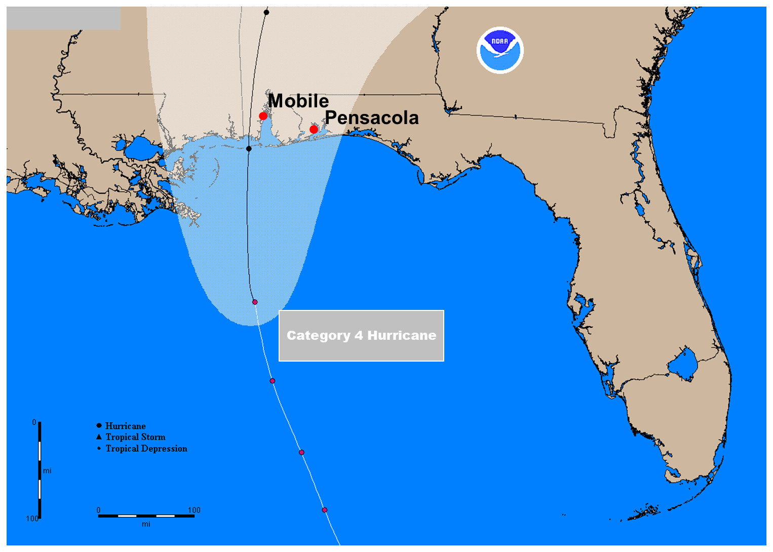 Storm Surge–Plain And Simple (Part 2) « Inside The Eye - Where Is Pensacola Florida On A Map