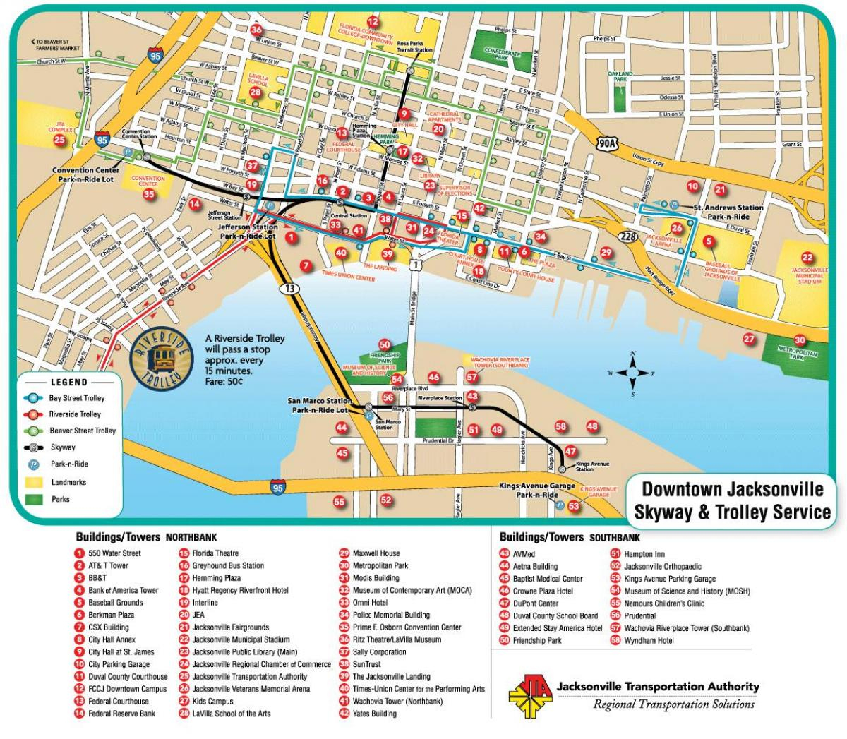 Street Map Jacksonville Fl - Street Map Of Jacksonville Fl (Florida - Florida Street Map