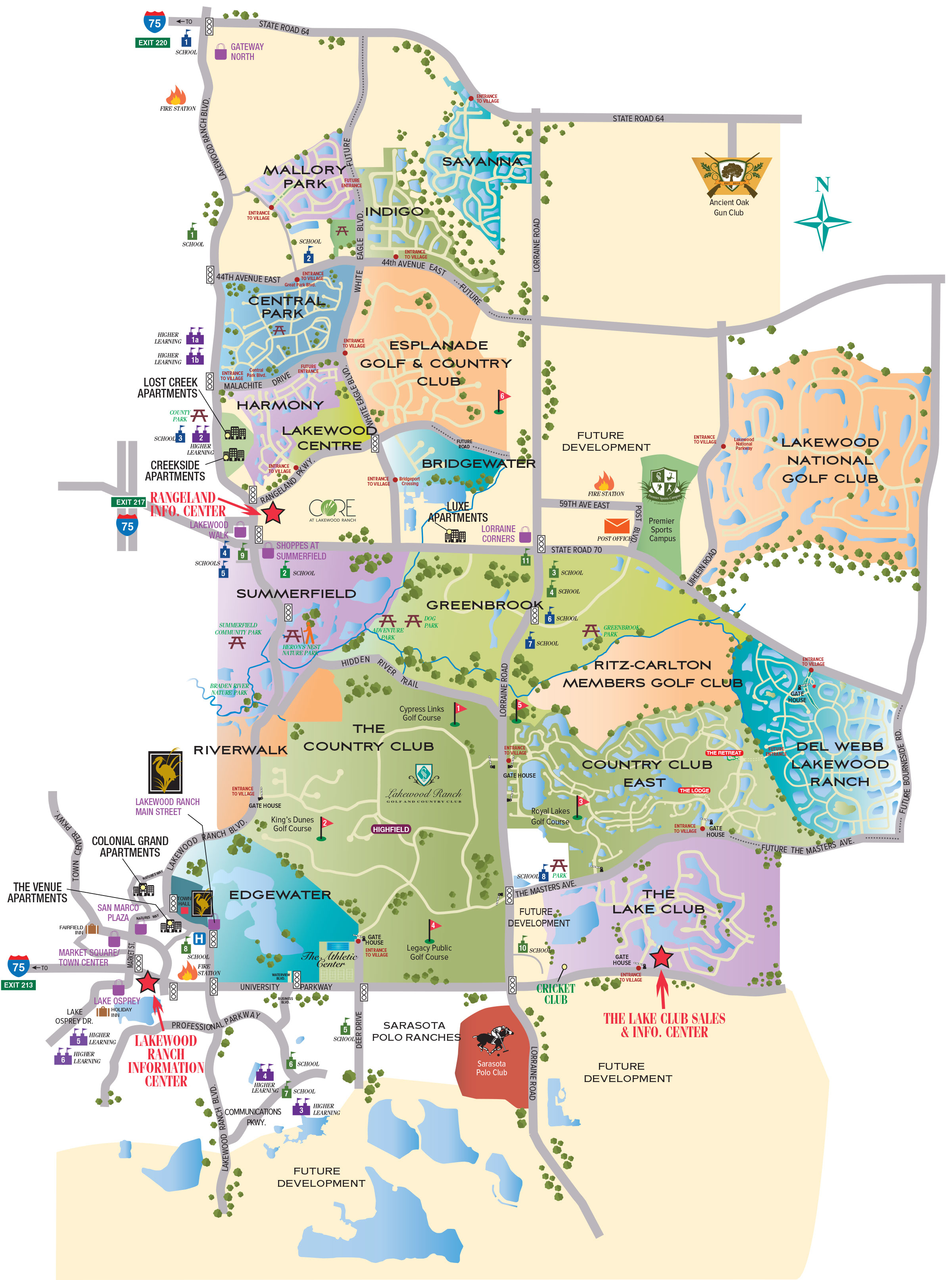image relating to Printable Map of Florida referred to as Road Map Lakewood Ranch Www.topsimages - Lakewood Ranch