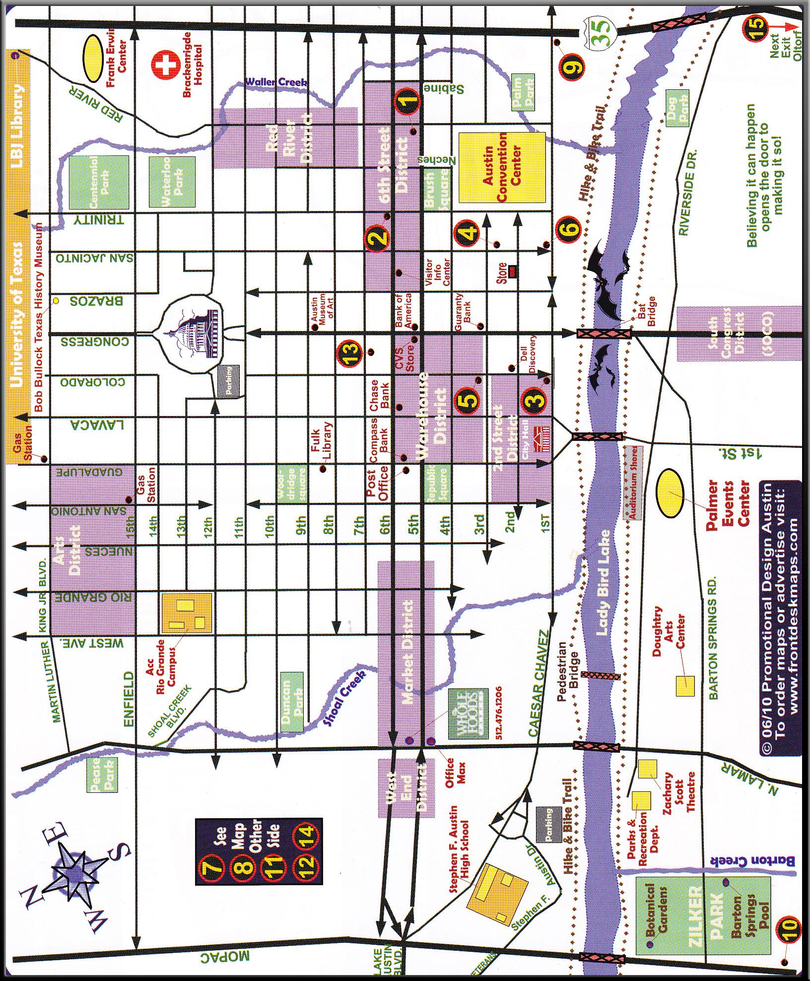 Street Map Of Austin Texas | Business Ideas 2013 - Austin Texas Map Downtown