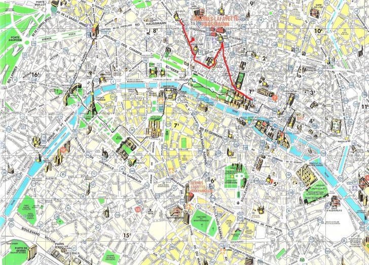 Printable Tourist Map Of Paris France