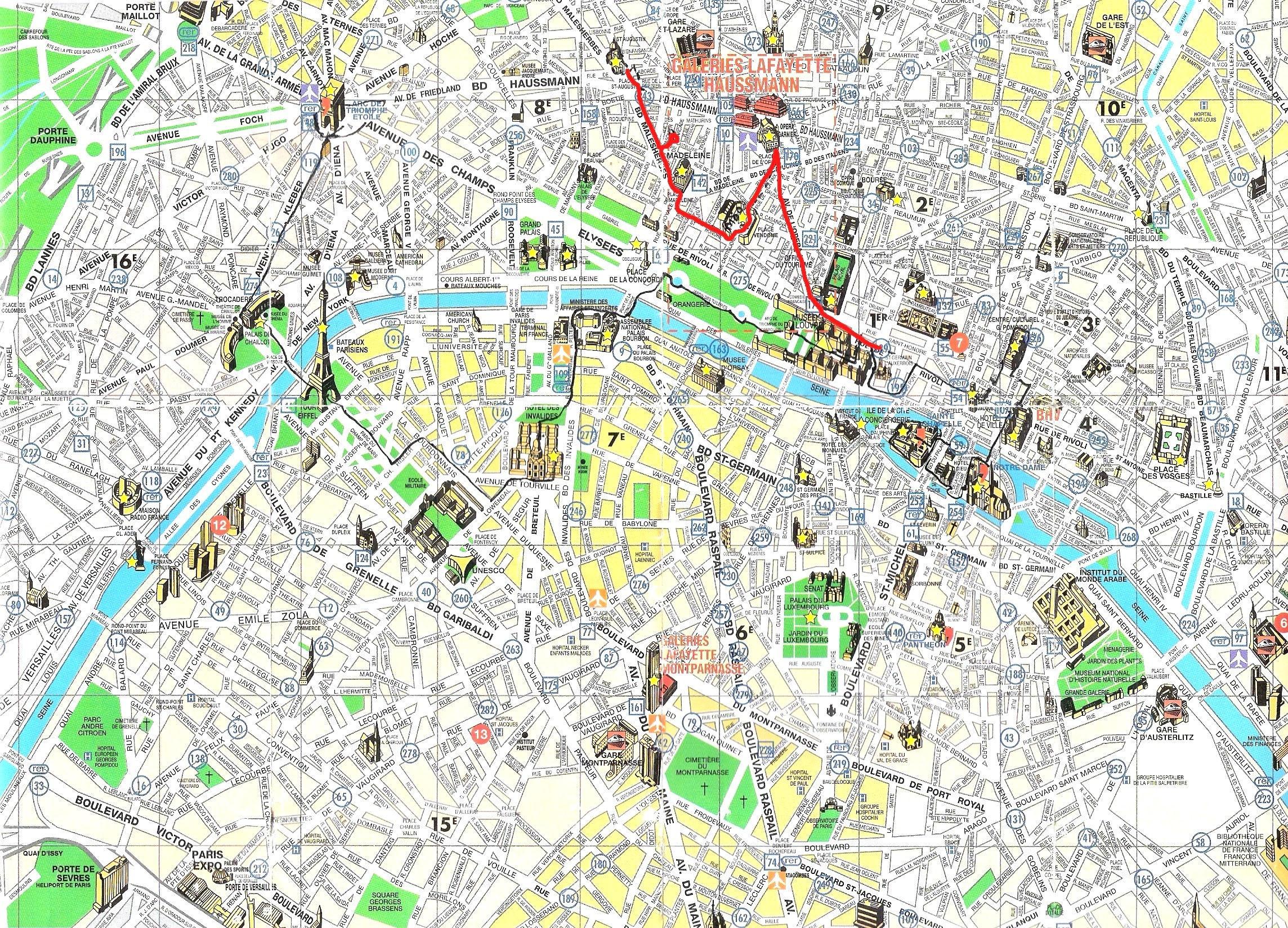 Street Map Of Paris France Printable Maps On Tourist Lovely And For - Printable Tourist Map Of Paris France