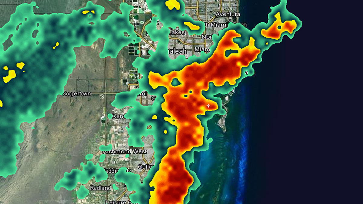 Strong Storms In South Florida Wednesday - Nbc 6 South Florida - South Florida Weather Map
