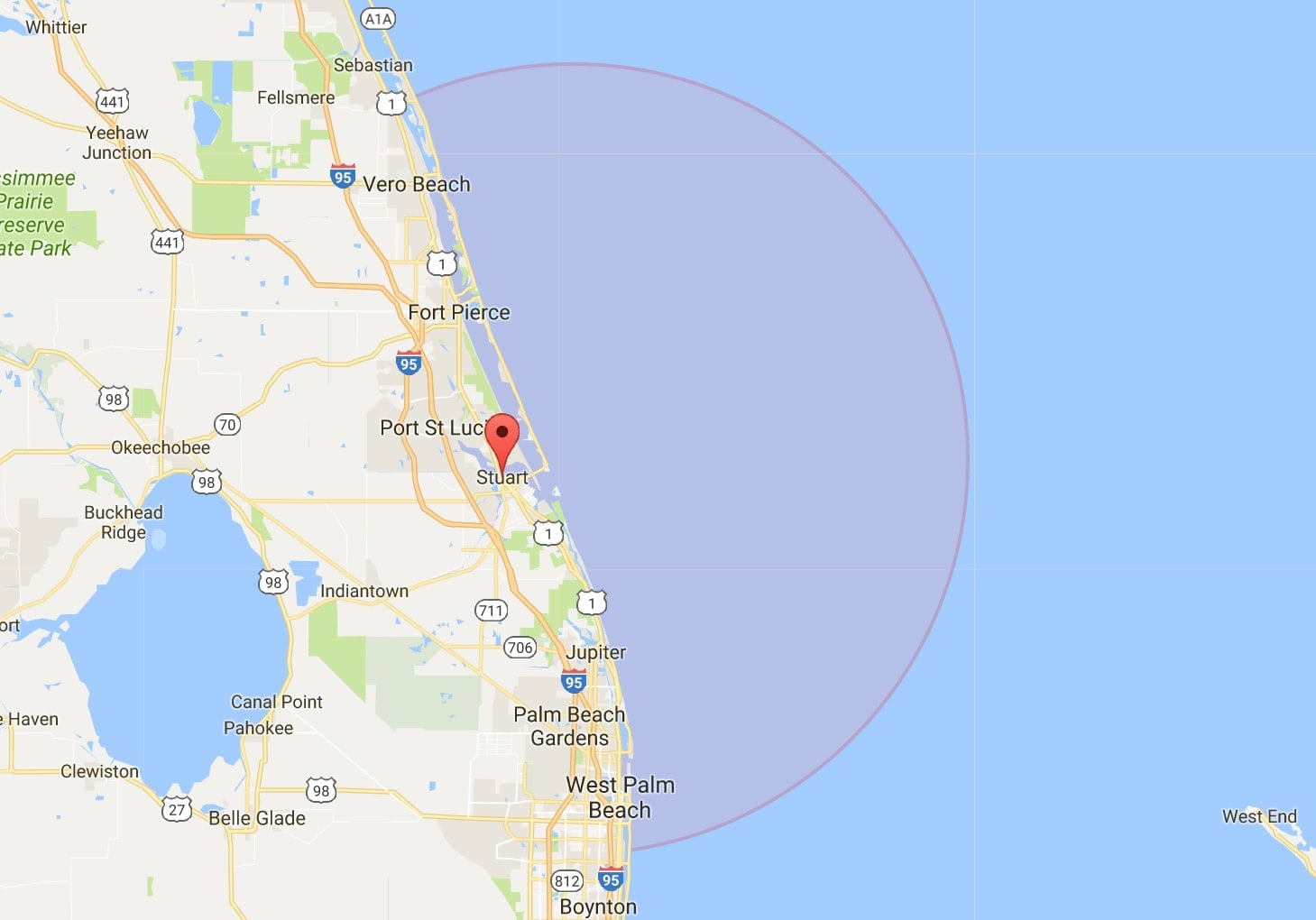 Stuart Fl Fishing With Reel Busy Charters - Map Showing Stuart Florida