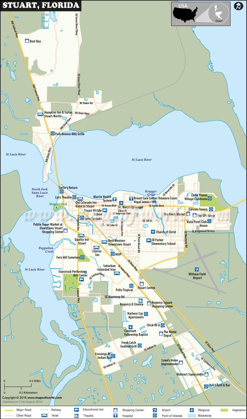 Stuart Florida Map - Map Showing Stuart Florida