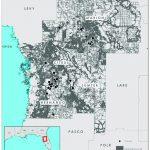 Study Area Map Of West Central Florida (Hernando, Citrus, Sumter   Hernando Florida Map