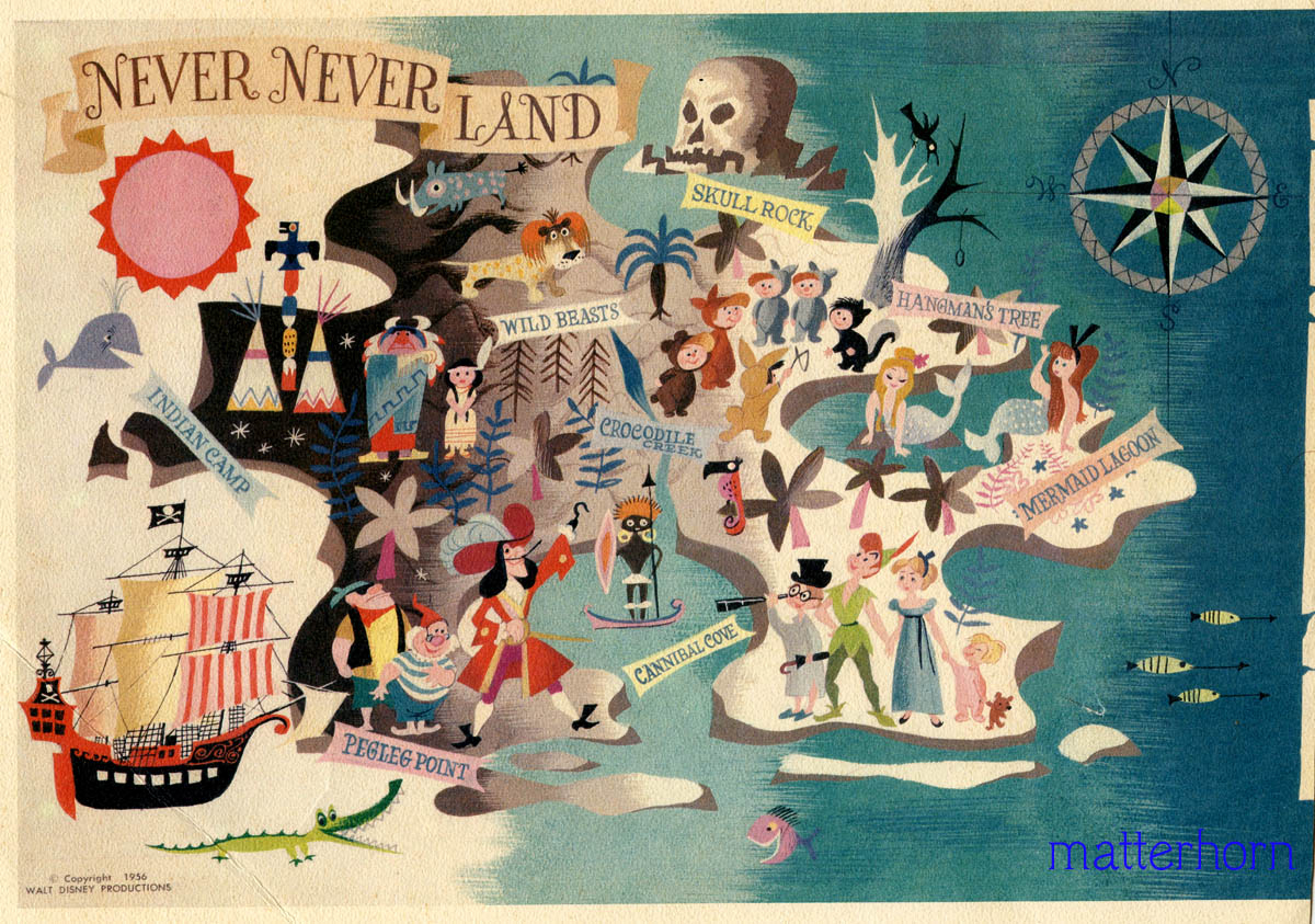 Stuff From The Park: Souvenir Friday- Map Of Never Never Land - Printable Neverland Map