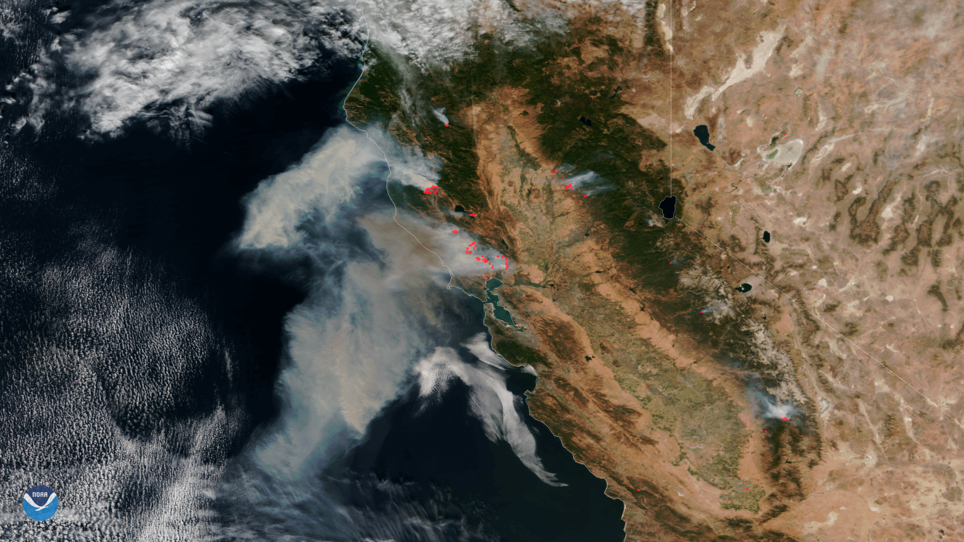 Stunning Satellite Images Of The California Wildfires - Via Satellite - - Live Satellite Map California