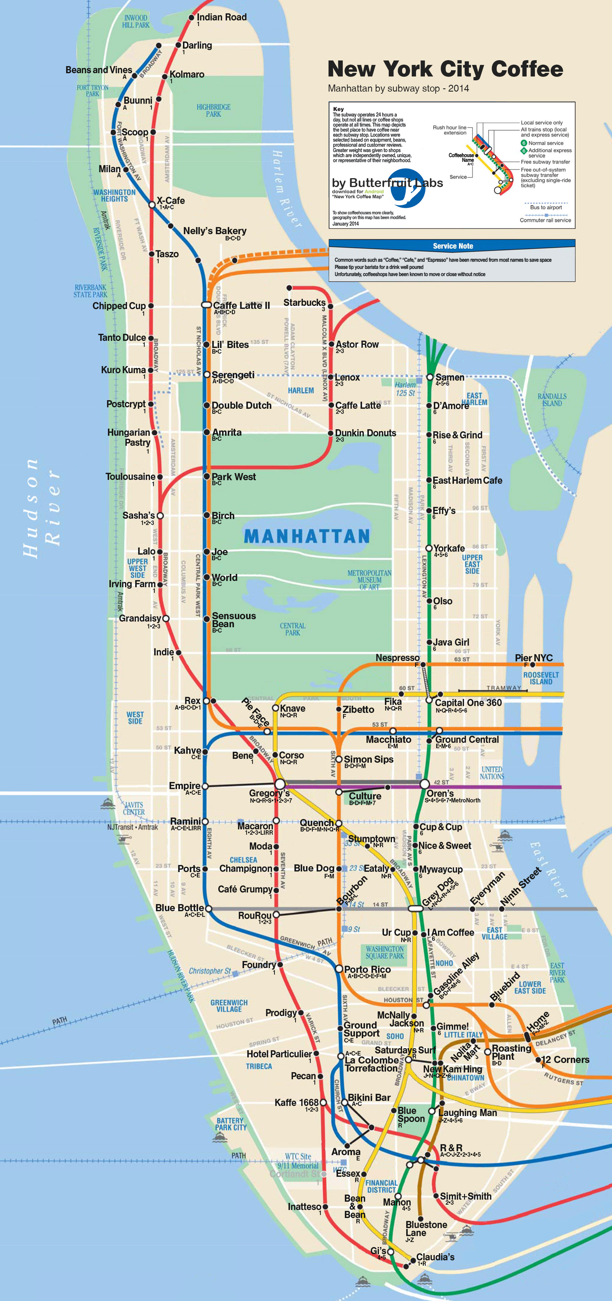 Subway Map In Manhattan | Travel Maps And Major Tourist Attractions Maps - Nyc Subway Map Manhattan Only Printable