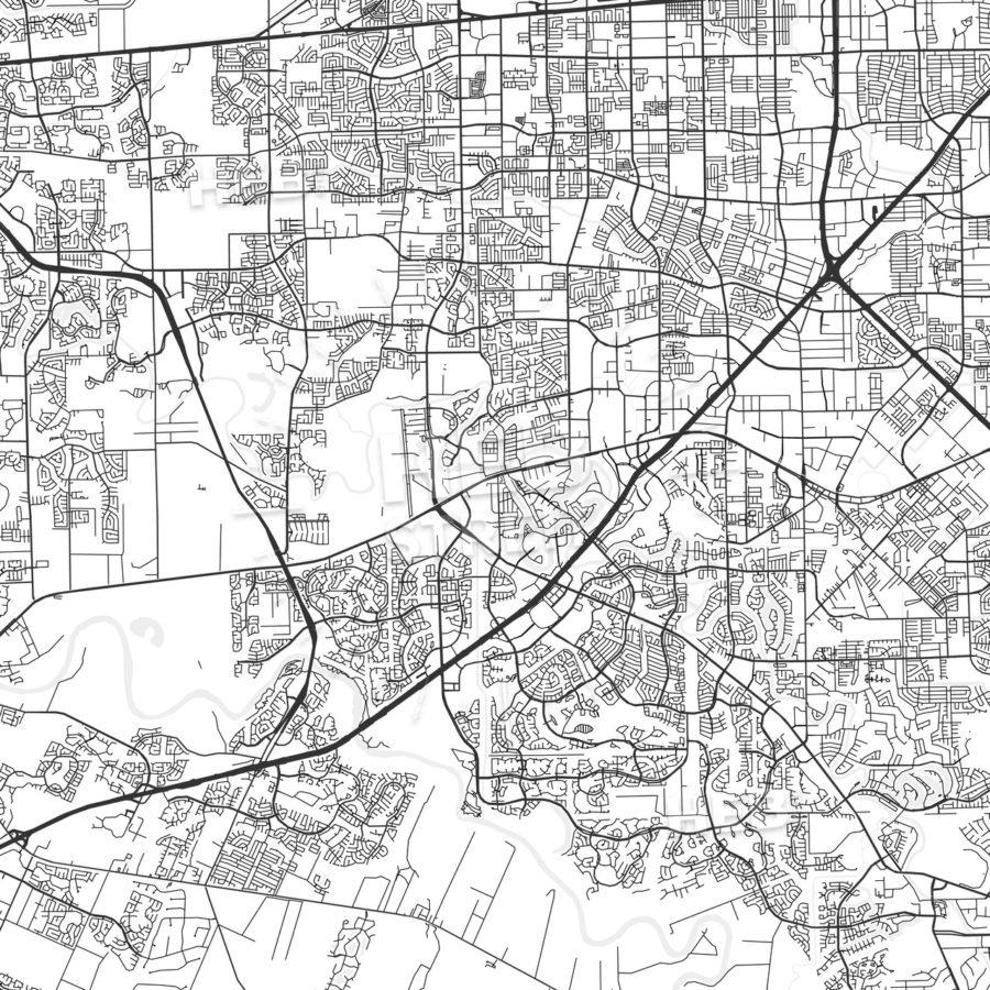 Sugar Land, Texas - Area Map - Light | Hebstreits - Sugar Land Texas Map