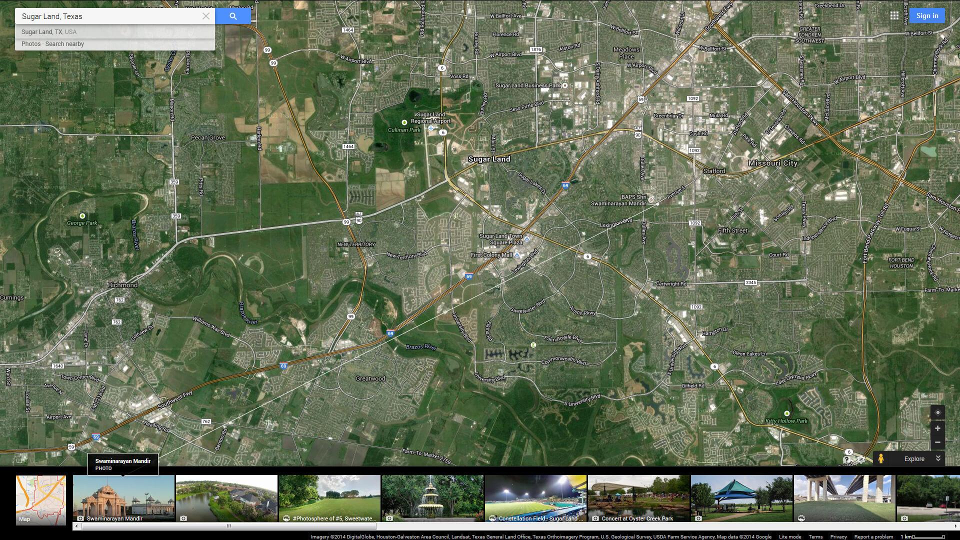 Sugar Land, Texas Map - Sugar Land Texas Map