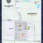 Sunray Local Street Map   Dumas Texas Map
