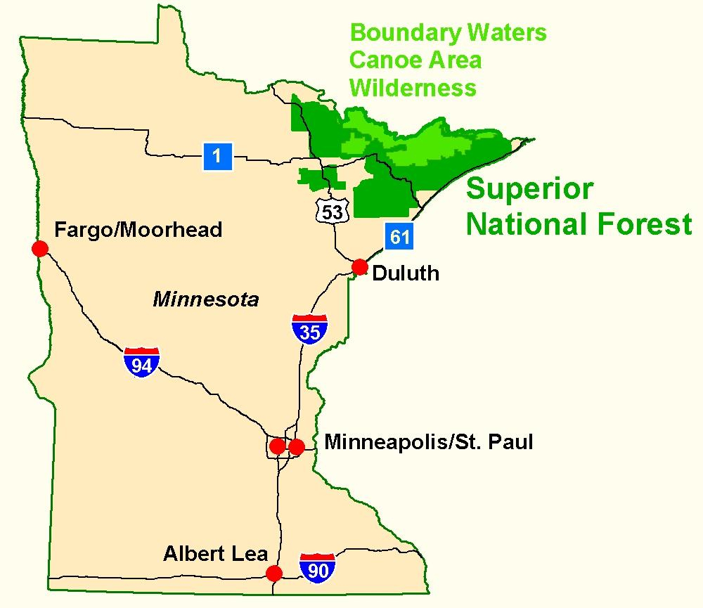 Superior National Forest- Maps - Printable Maps By Waterproofpaper Com