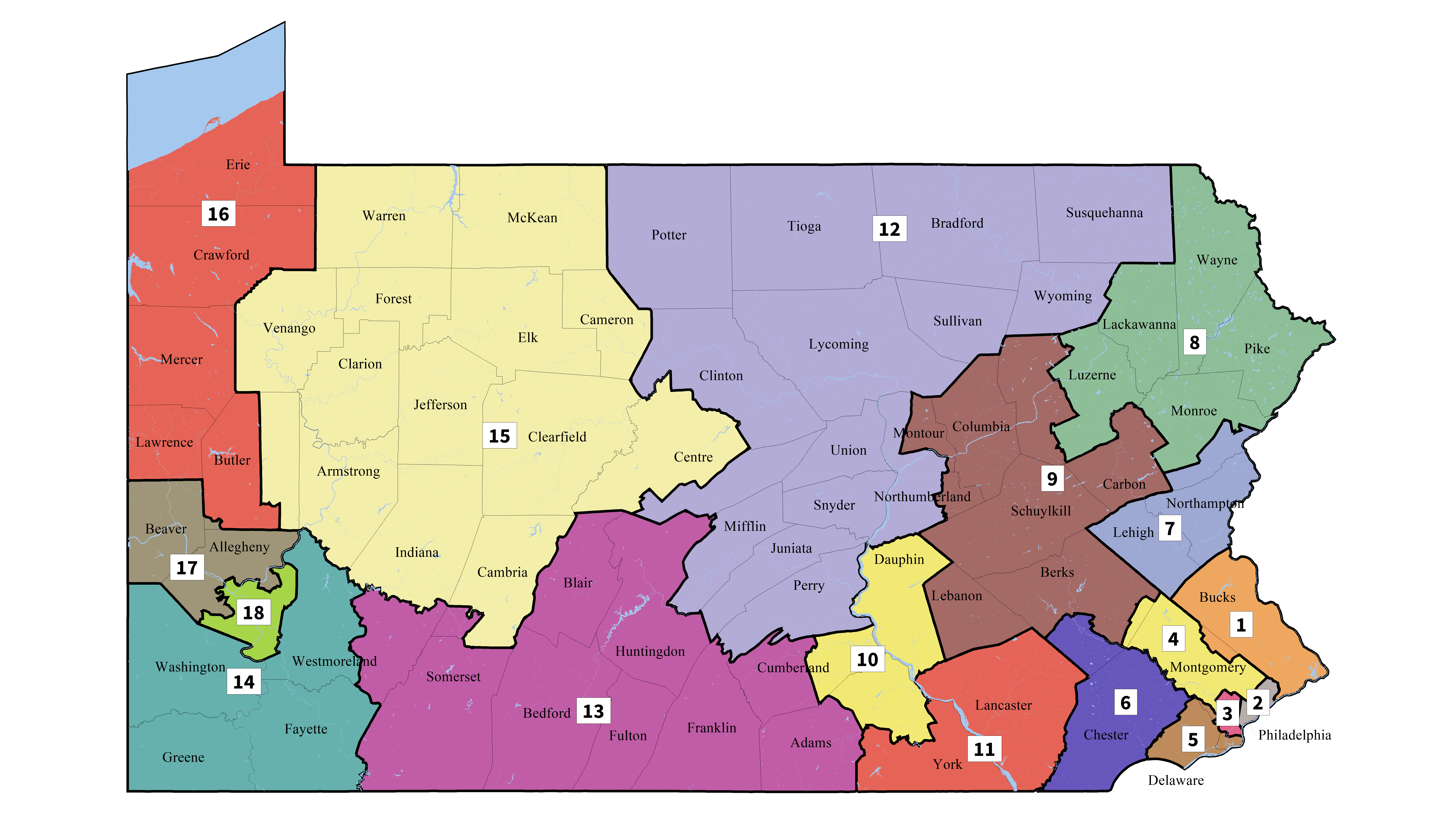Supreme Court Issues New Congressional District Map | Wnep - Texas Senate District Map