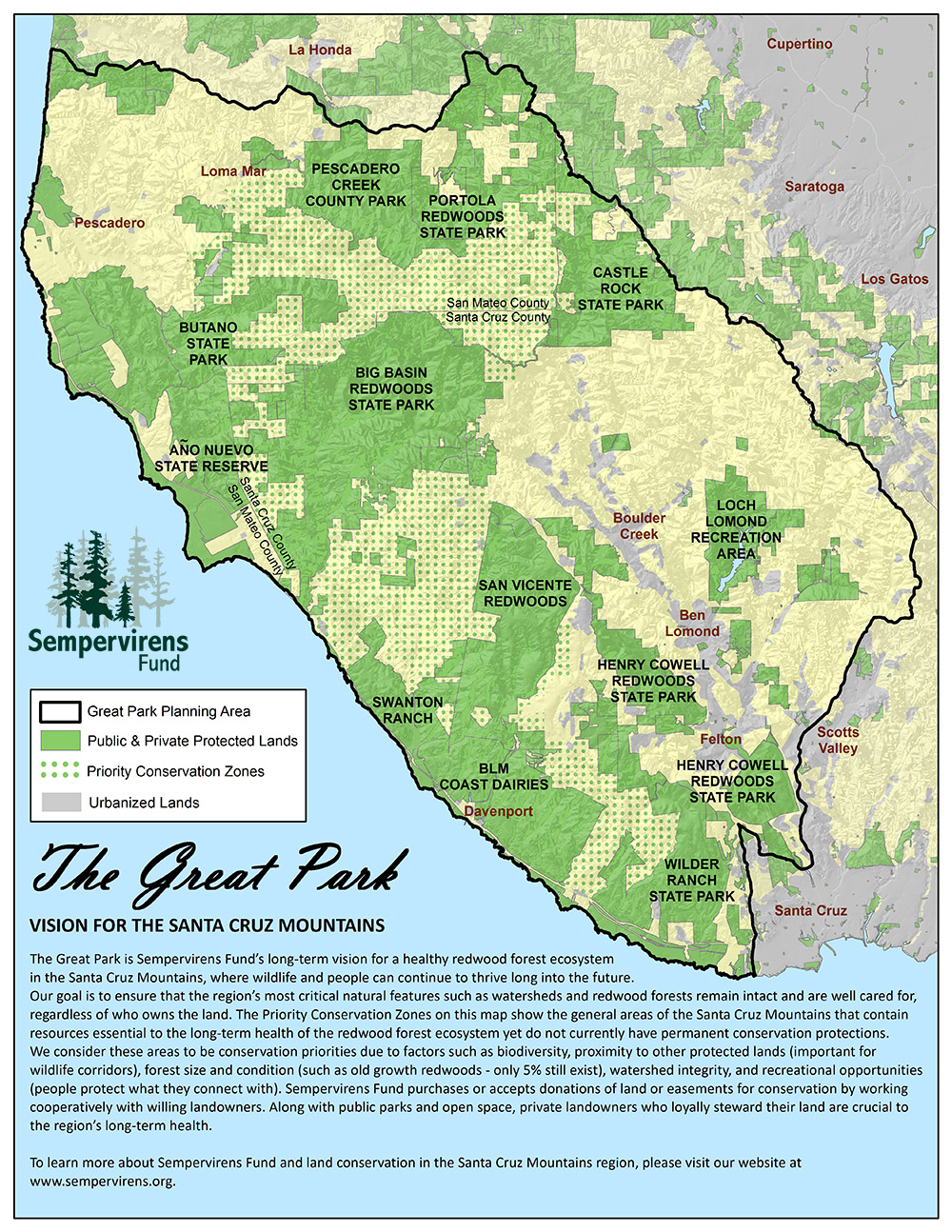 Svf Great Park Map Rev Px Map With Image Redwood Trees California - Where Is The Redwood Forest In California On A Map
