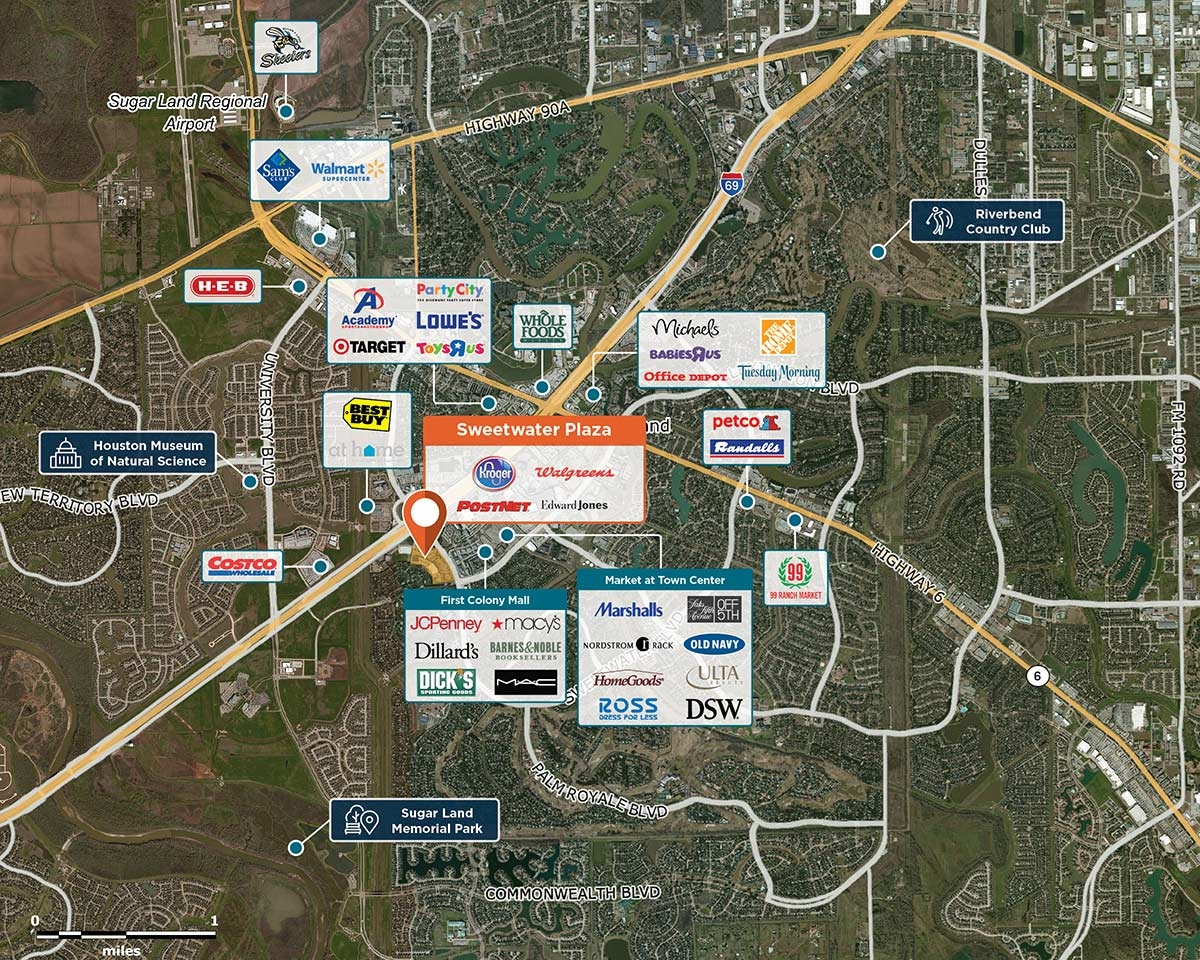 Sweetwater Plaza, Sugar Land, Tx 77479 – Retail Space | Regency Centers - Sugar Land Texas Map