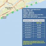 Swim Advisory Issued For High Bacteria Reading In Area Of North   Florida Beach Bacteria Map 2018