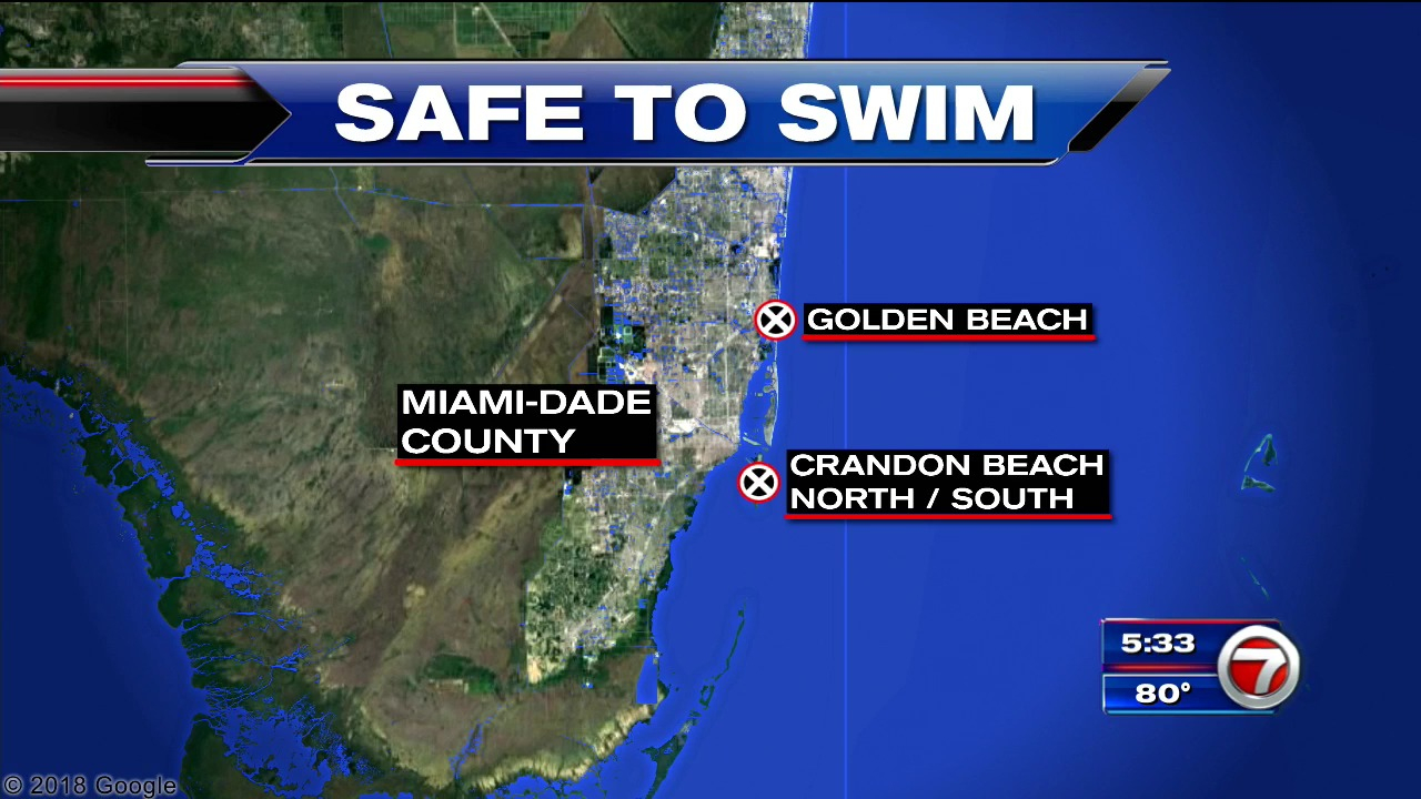 Swimming Advisory Lifted At Miami-Dade Beaches – Wsvn 7News | Miami - Florida Beach Bacteria Map 2018
