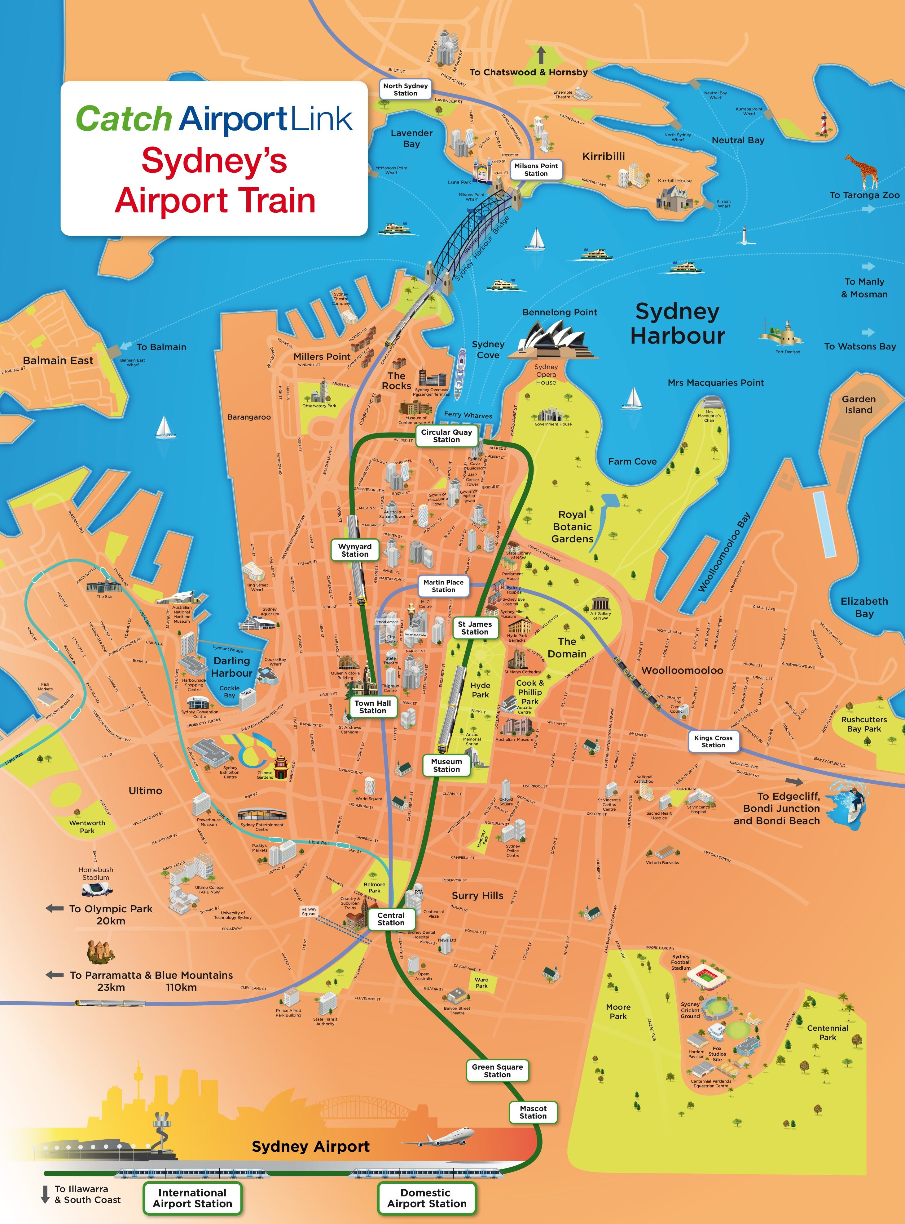 Sydney Tourist Attractions Map - Sydney Tourist Map Printable