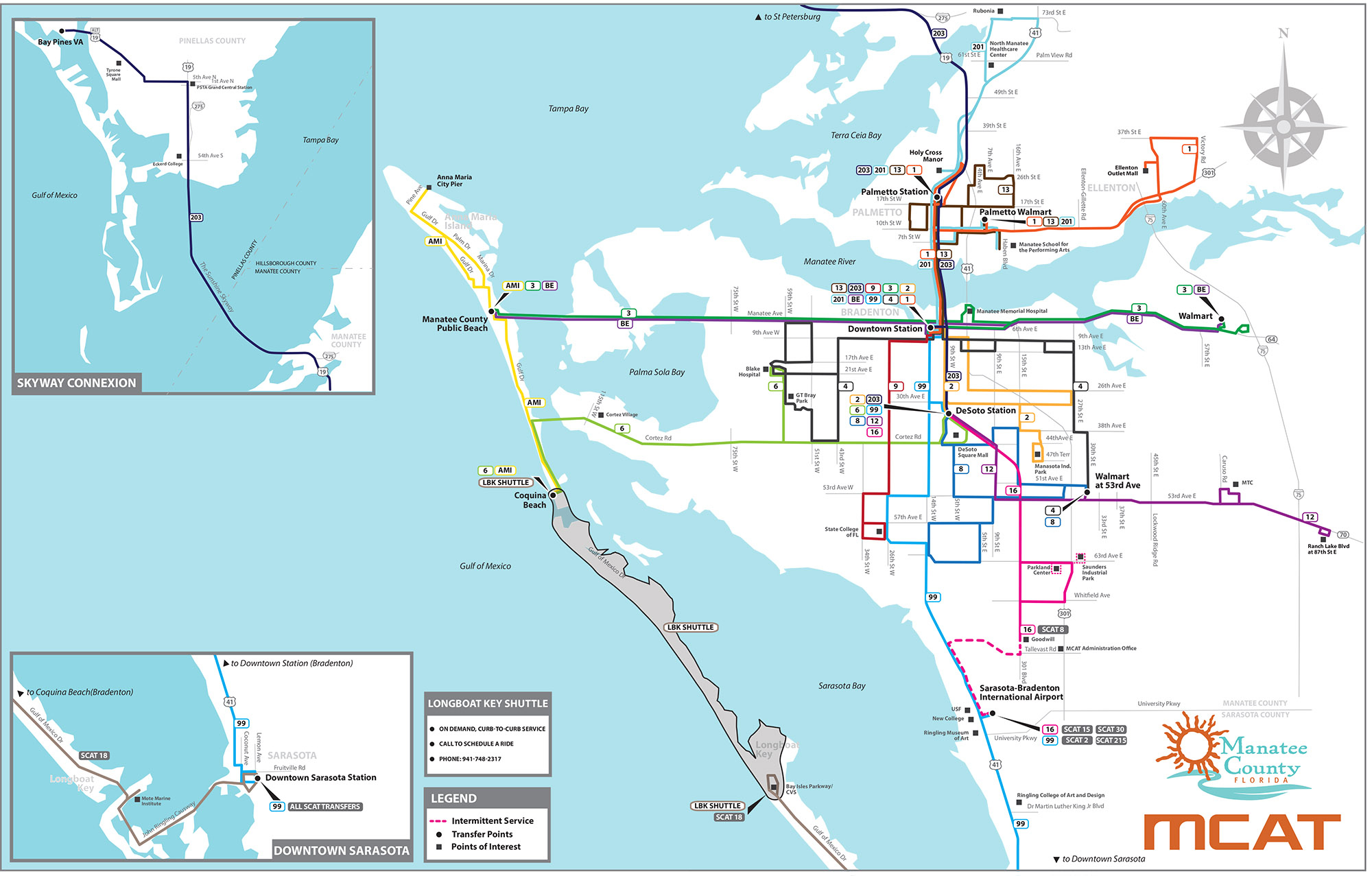 System Map | Mcat - Palmetto Florida Map