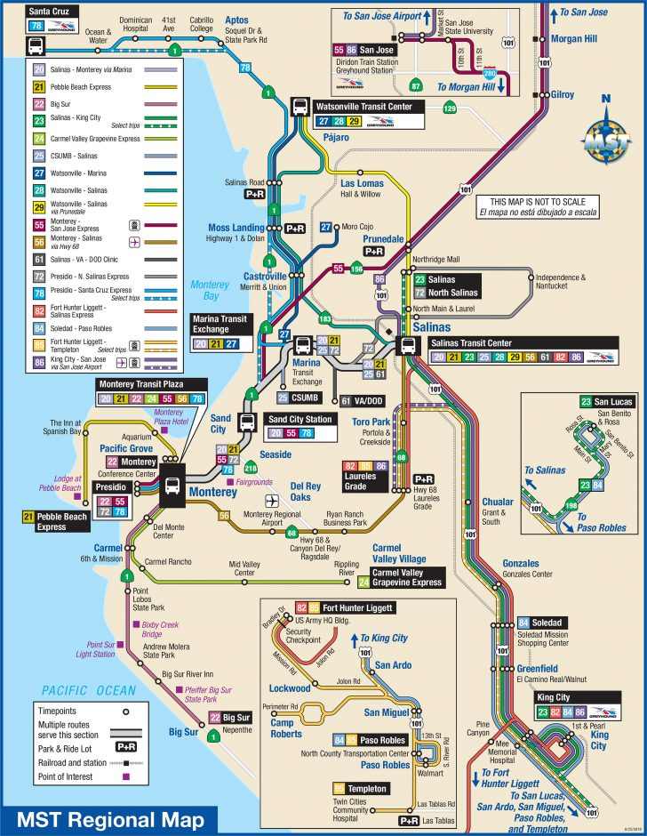 Greyhound Route Map California