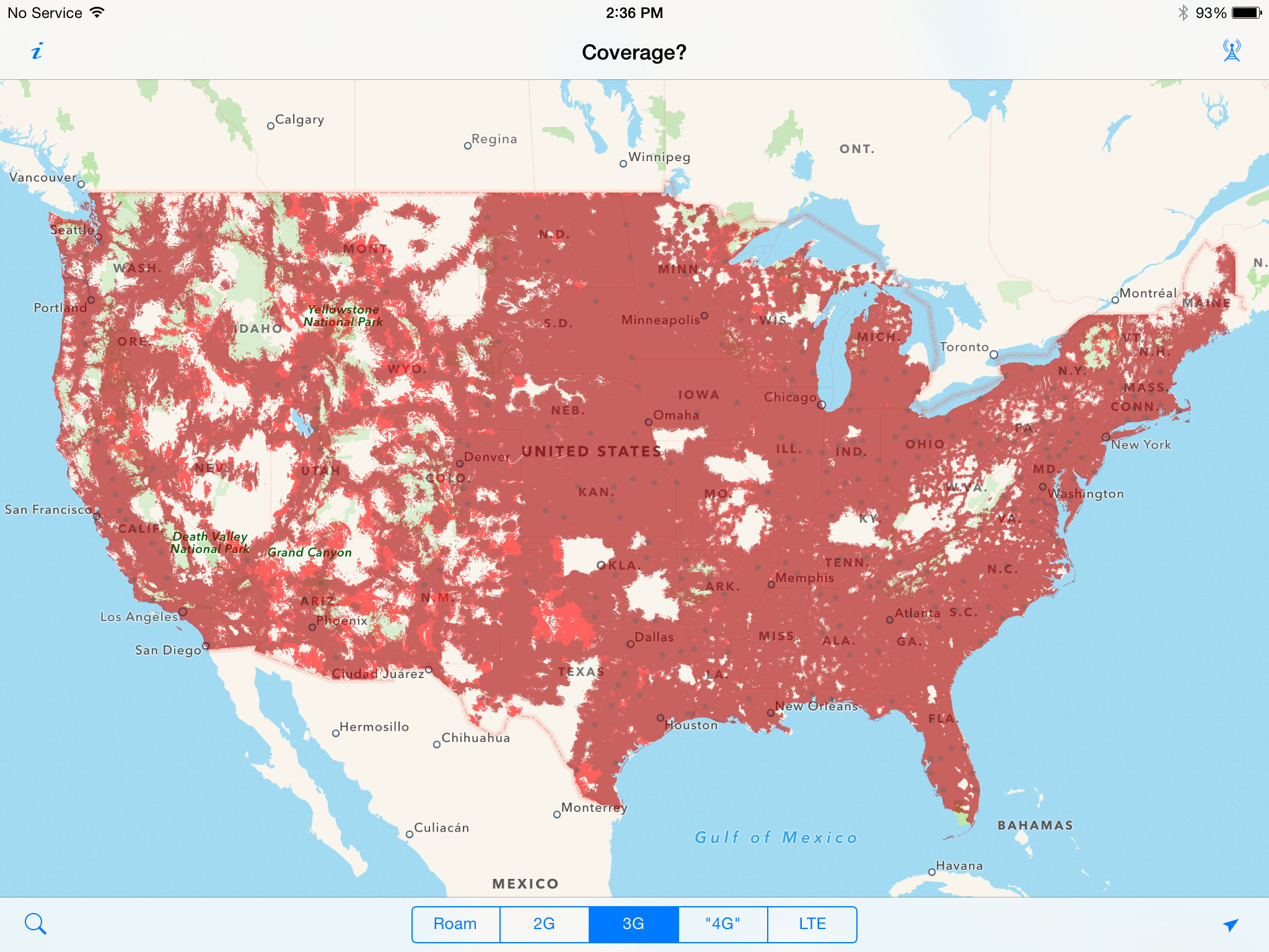 T Mobile Coverage Map California Fresh Cell Phone Coverage Us Maps - T Mobile Coverage Map In California