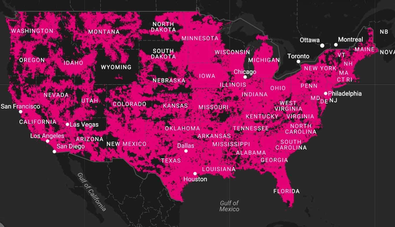 T Mobile Coverage Map California - Klipy - T Mobile Coverage Map In California