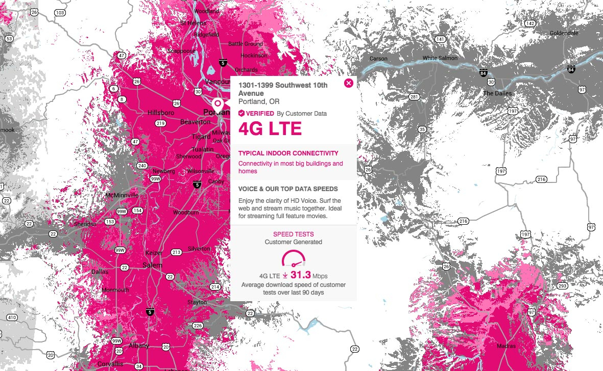 T-Mobile Introduces Crowd-Sourced Coverage Map – Droid Life - T Mobile Coverage Map California