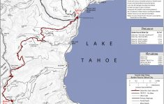 Tahoe Rim Trail Barker Pass To Tahoe City Map – Lake Tahoe Ca • Mappery – Tahoe City California Map