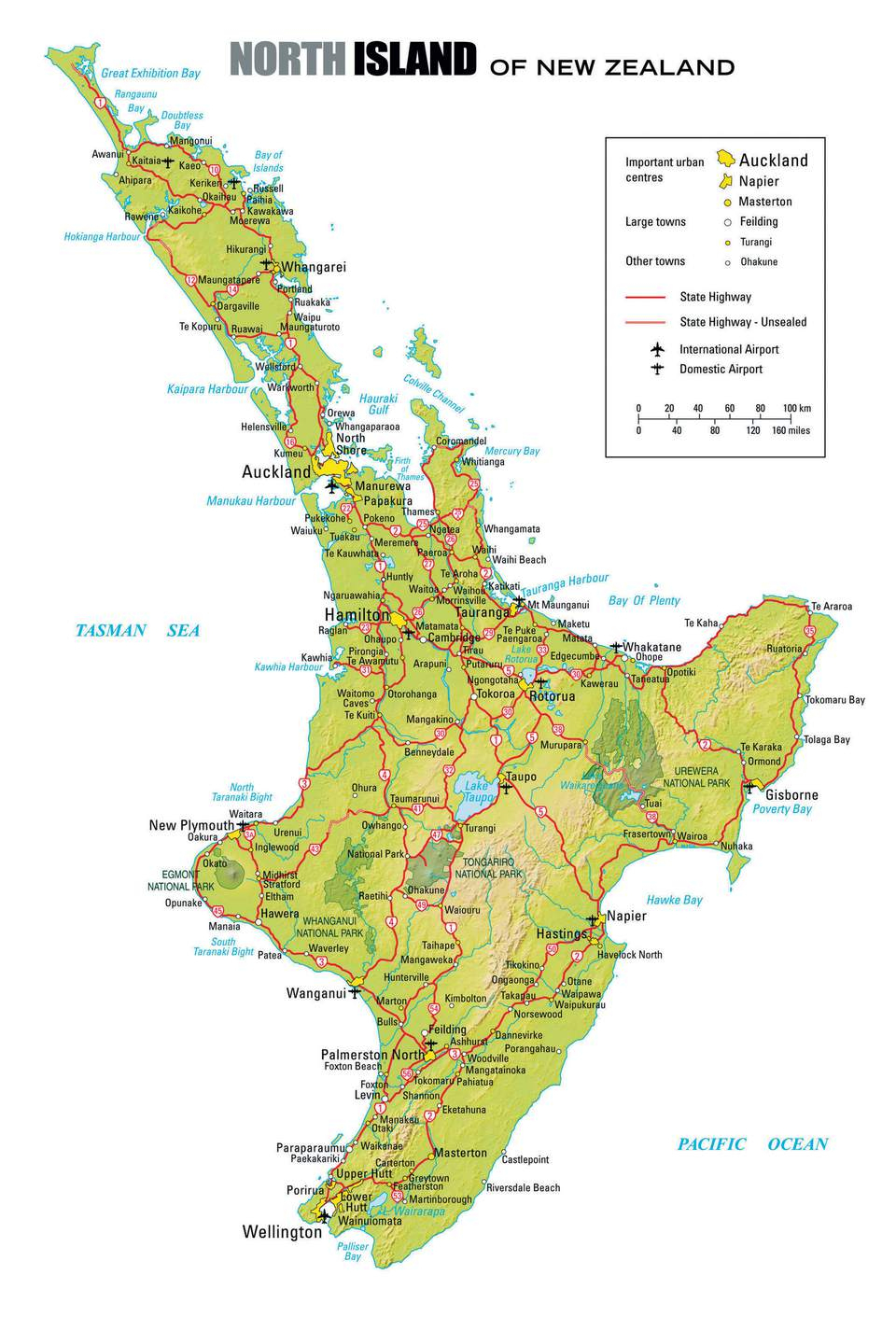 Take A Road Trip On New Zealand's North Island - New Zealand South Island Map Printable