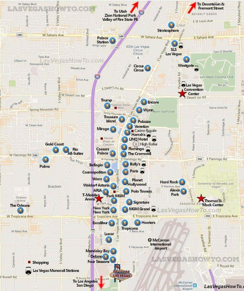 Taking A Walk Along The Vegas Strip Is A Great Way To See Vegas And - Map Of Las Vegas Strip Hotels Printable