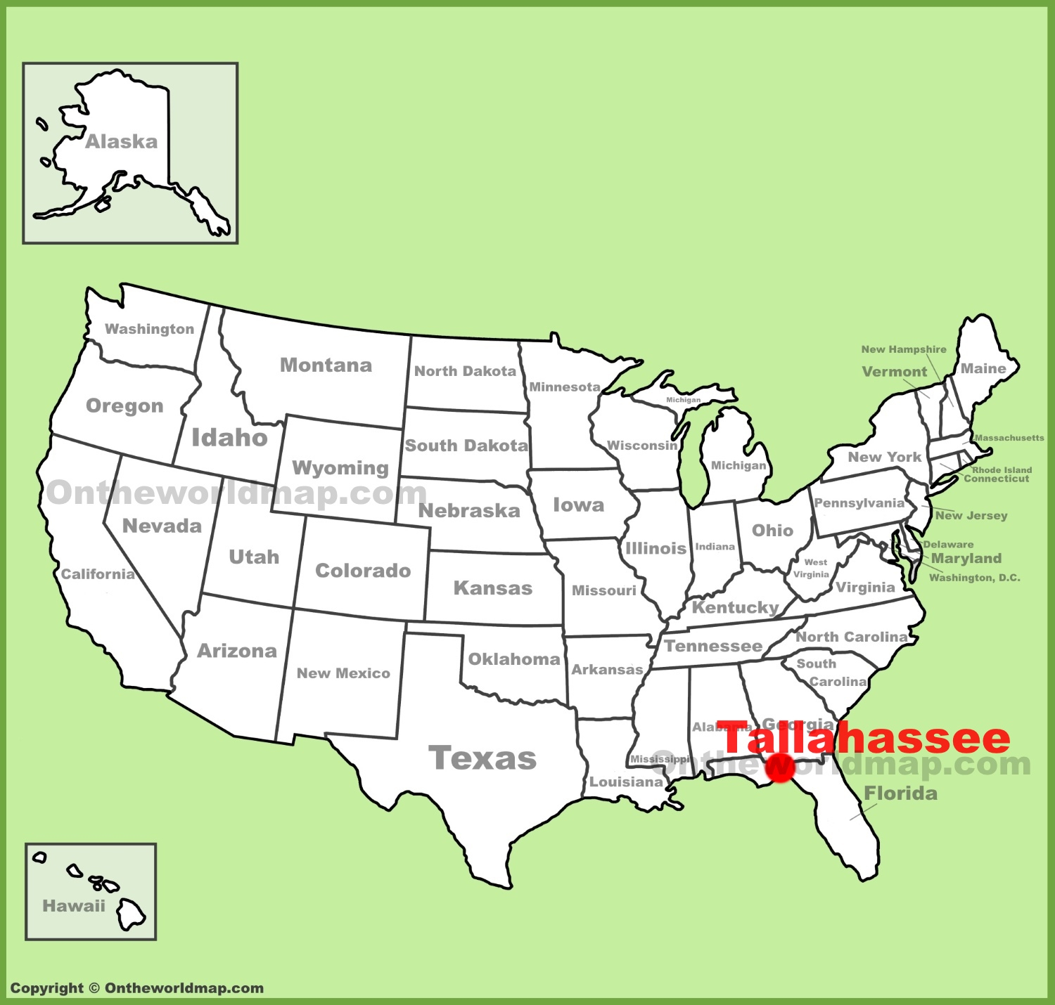 Tallahassee Location On The U.s. Map - Tallahassee On The Map Of Florida