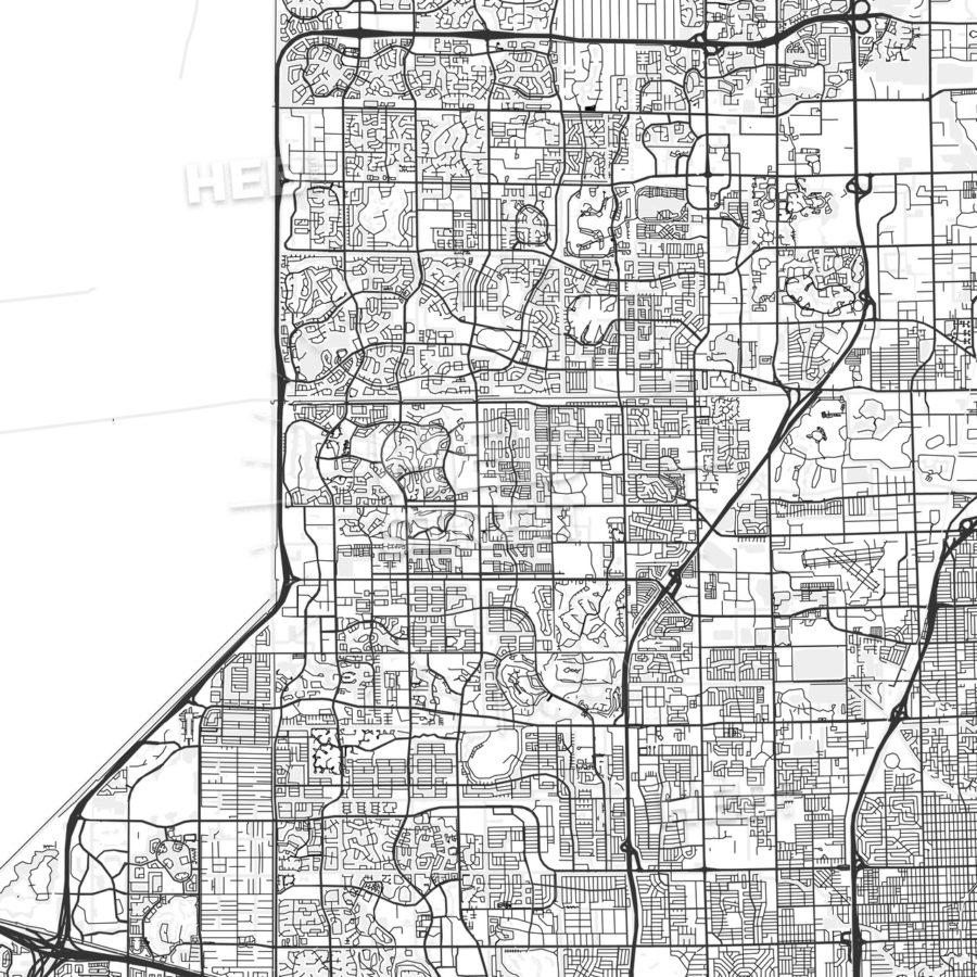 Tamarac, Florida - Area Map - Light   Hebstreits - Tamarac Florida Map