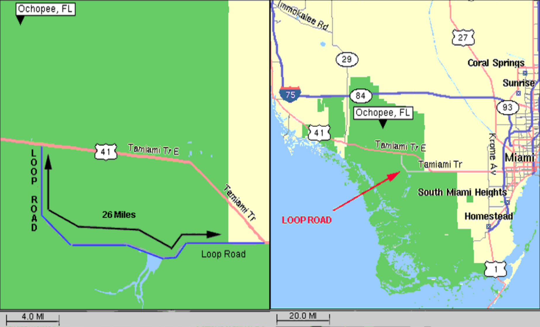 Tamiami Trail Officially Opened In 1928 - Tamiami Trail Florida Map