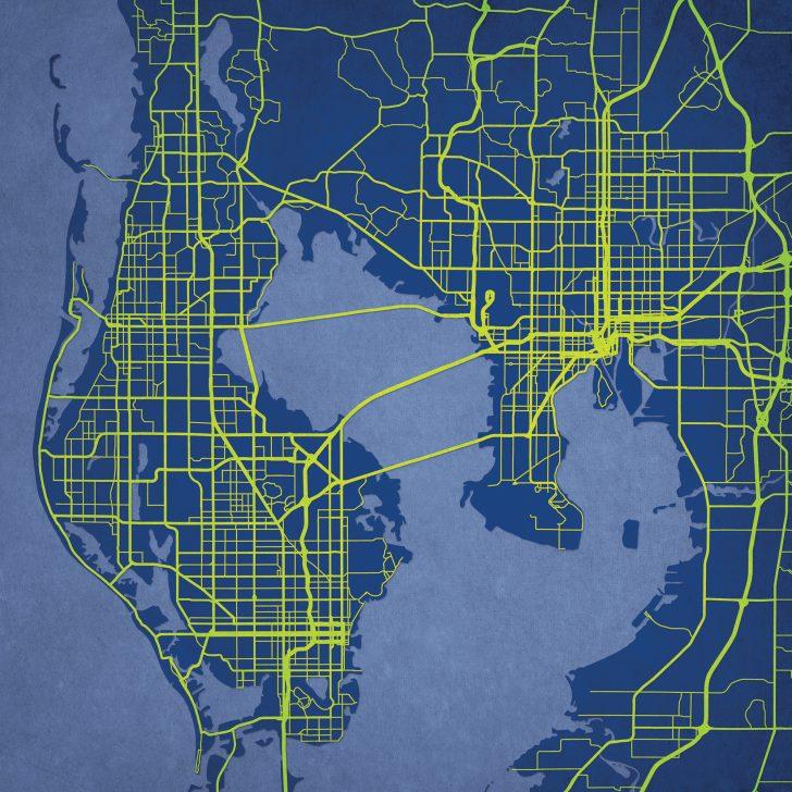 Florida Map Art