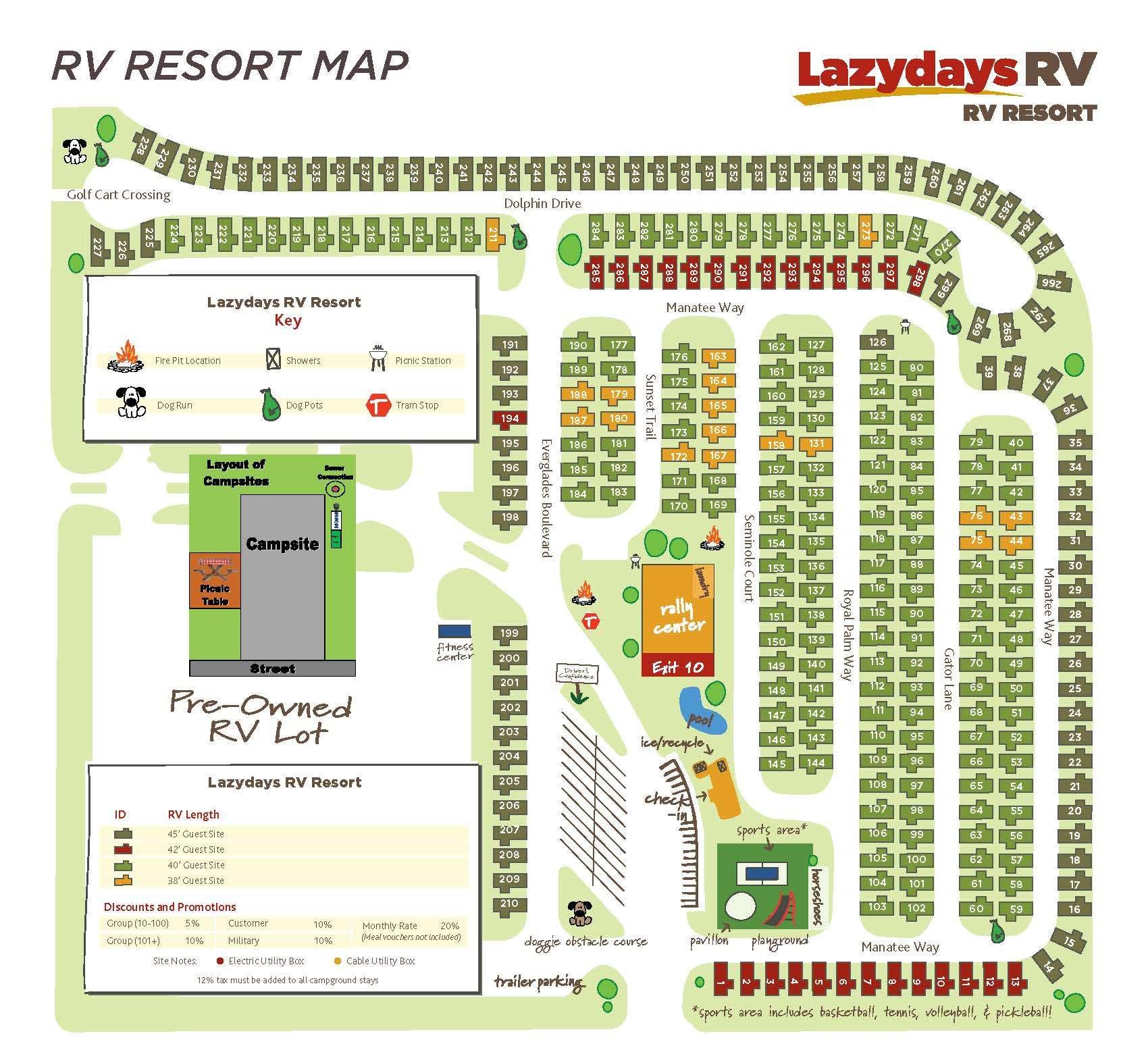 Tampa Rv Resort Map | Lazydays Rv In Tampa, Florida - Florida Rv Camping Map