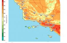 Temperature Map Southern California – Klipy – California Heat Zone Map