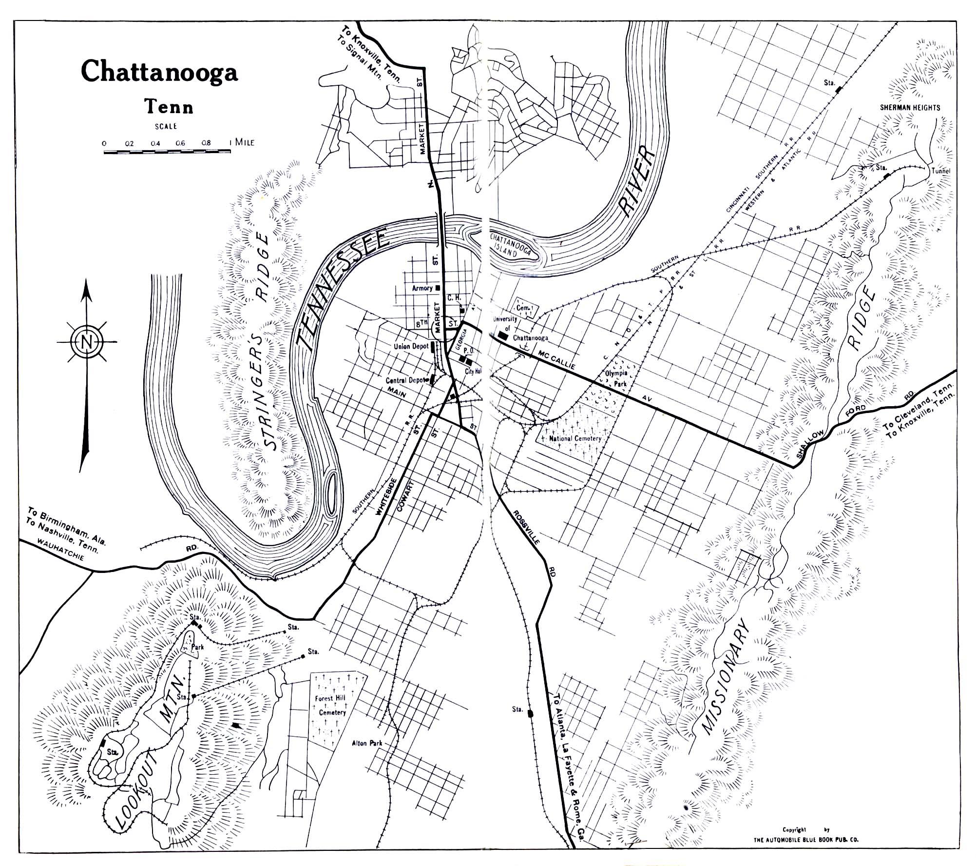 Tennessee Maps - Perry-Castañeda Map Collection - Ut Library Online - Printable Map Of Chattanooga