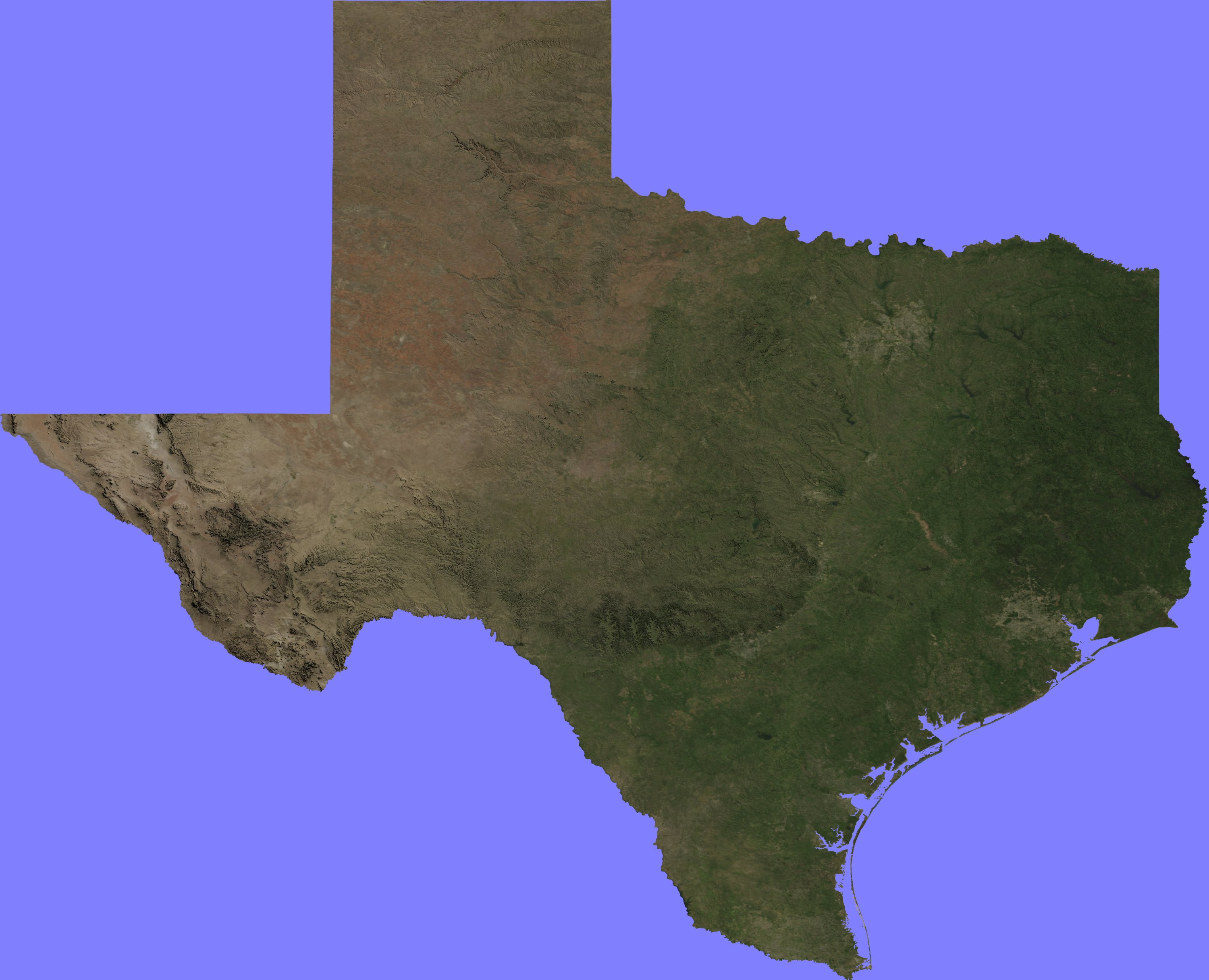 Terrain Maps « Google Earth Library - Google Satellite Map Of Texas