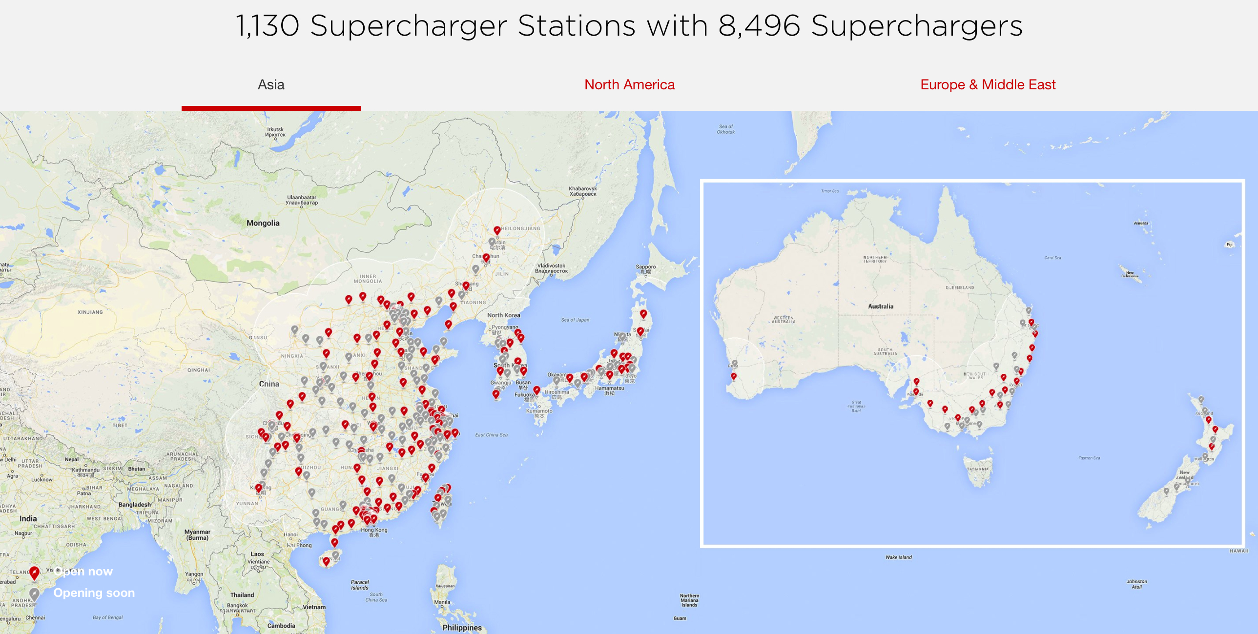 Tesla Supercharger Network 2018 — Plans Call For Rapid Expansion - Charging Stations In Texas Map