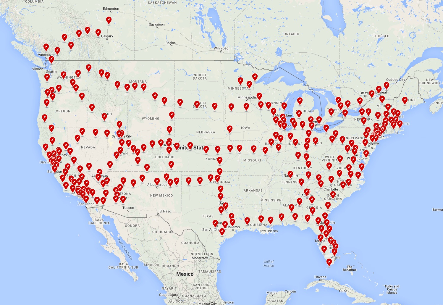 Tesla Teams With Ruby Tuesday For Supercharger Installs - Tesla Charging Stations Map California
