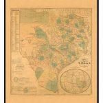 Texas 1853 Historical Print Framed Wall Map (Black) – Kappa Map Group   Framed Texas Map