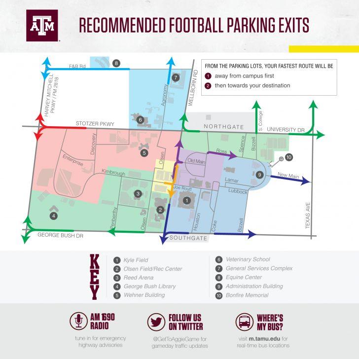 Texas A&m Football Parking Map