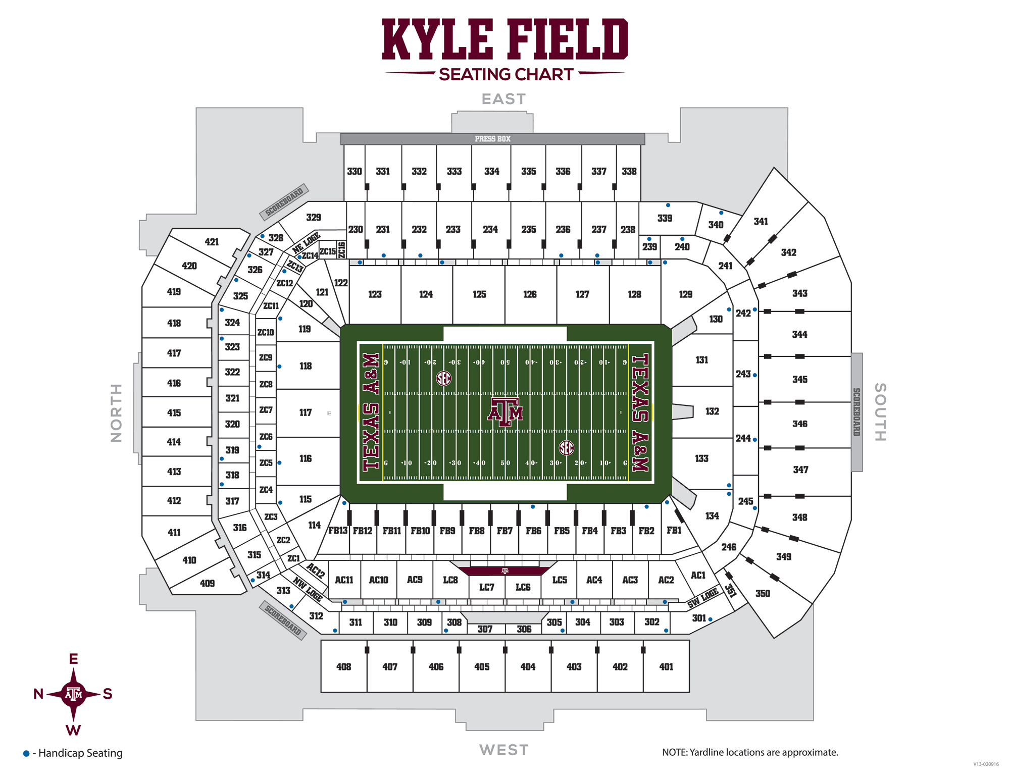 Texas A&m Football Gameday - 12Thman - University Of Texas Football Stadium Map