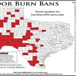 Texas A&m Forest Service Issues Map Of Burn Bans Across The State   Burn Ban Map Of Texas
