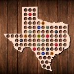 Texas Beer Cap Map Bottle Cap Art Beer Cap Holder Beer Cap | Etsy   Texas Beer Cap Map