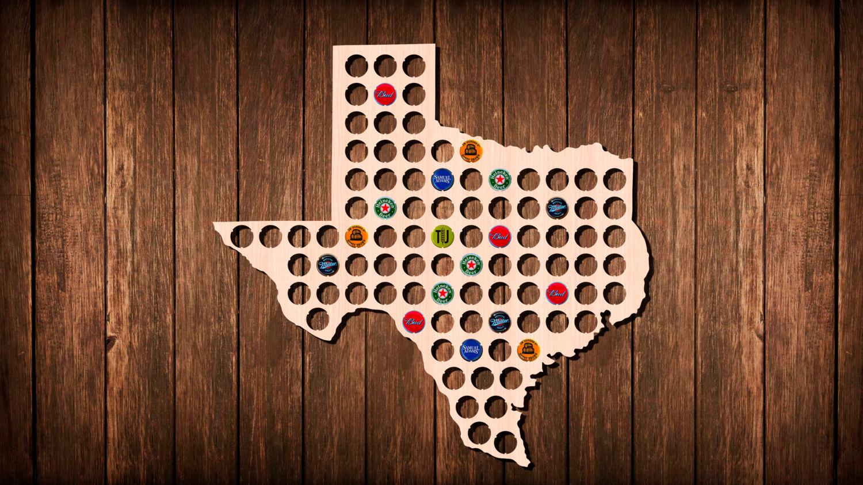 Texas Beer Cap Map Bottle Cap Art Beer Cap Holder Beer Cap | Etsy - Texas Beer Cap Map