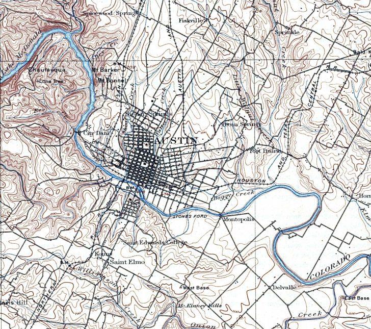 Barker Texas Map