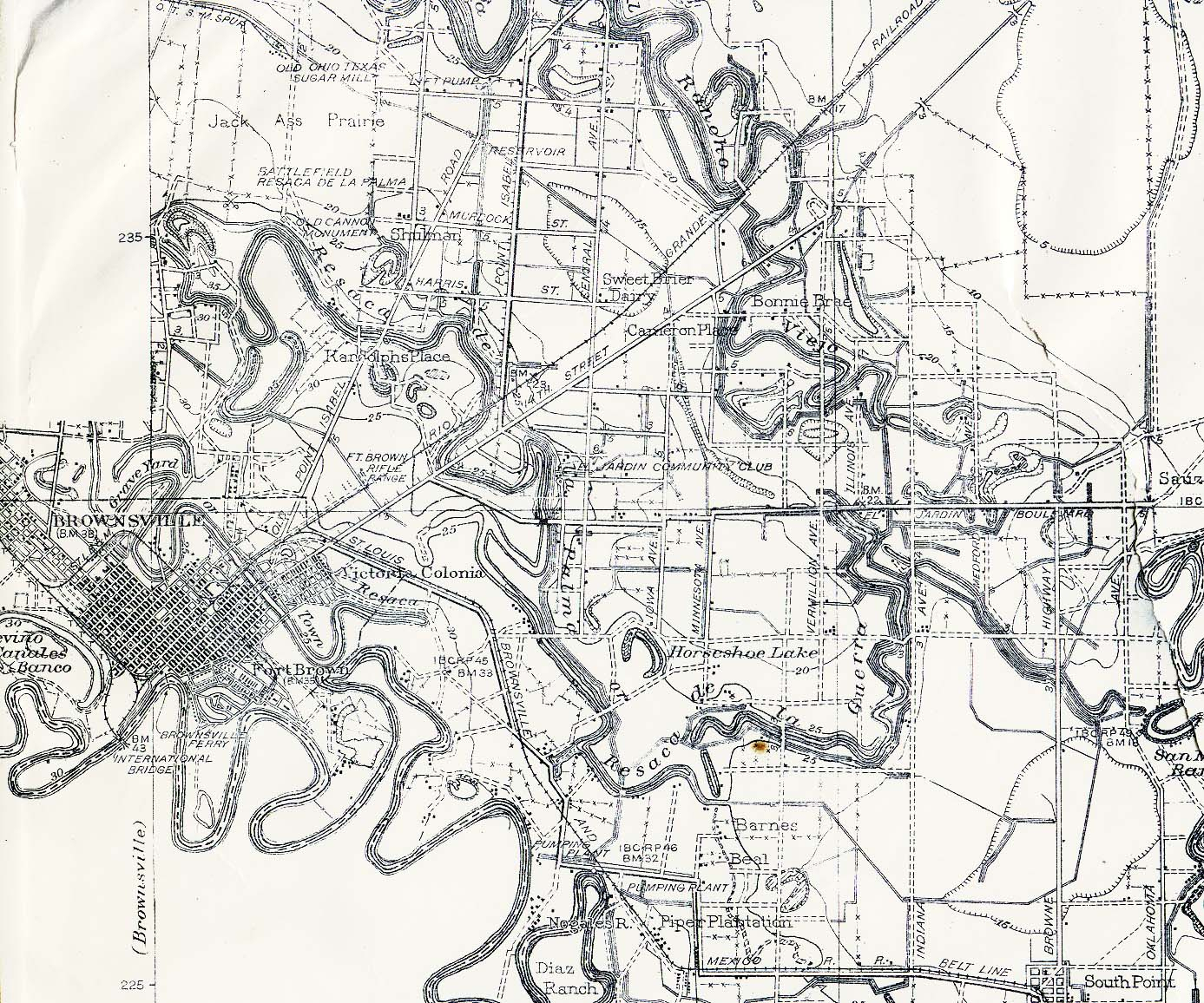 Texas Cities Historical Maps - Perry-Castañeda Map Collection - Ut - Map Of Brownsville Texas Area