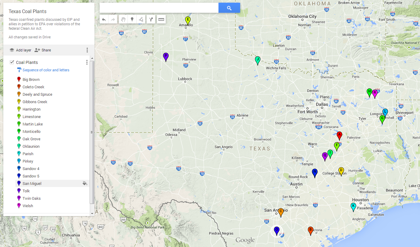 Texas Citizen Groups Petition Epa Over Coal-Fired Power Plants - Power Plants In Texas Map